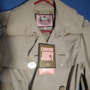 NWT Juicy Couture Trench Coat Size Small